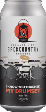 Backcountry Brewing | I Know You Touched My Drumset | Idaho 7 IPA - Front Of Can