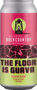 Backcountry Brewing | The Floor Is Guava 2021 | Guava Sour - Front of Can