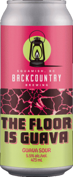 Backcountry Brewing   The Floor Is Guava 2021   Guava Sour - Front of Can