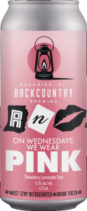 Backcountry Brewing | On Wednesdays We Wear Pink | Strawberry Lemonade Sour - Front of Can