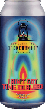 Backcountry Brewing | I Ain't Got Time To Bleed | Dry Hopped Lager - Front of Can