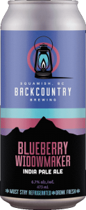 Backcountry Brewing | Blueberry Widowmaker | IPA - Front of Can