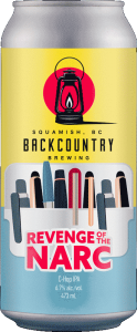 Backcountry Brewing | Revenge Of The Narc | C-Hop IPA - Front of Can