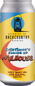 Backcountry Brewing   Everything's Coming Up Milhouse 2021   West Coast IPA - Front of Can