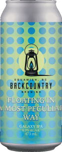 Backcountry Brewing | Floating In A Most Peculiar Way | Galaxy IPA - Front of Can