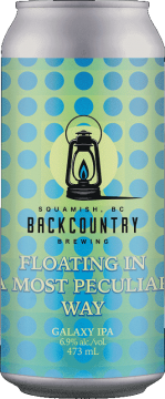 Backcountry Brewing   Floating In A Most Peculiar Way   Galaxy IPA - Front of Can