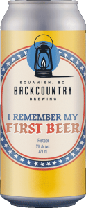 Backcountry Brewing   I Remember My First Beer   Festbier - Front of Can