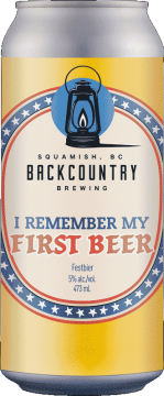 Backcountry Brewing | I Remember My First Beer | Festbier - Front of Can