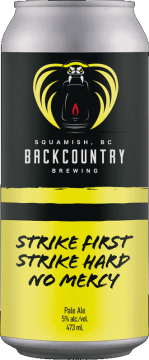 Backcountry Brewing | Strike First, Strike Hard, No Mercy | Pale Ale - Front of Can