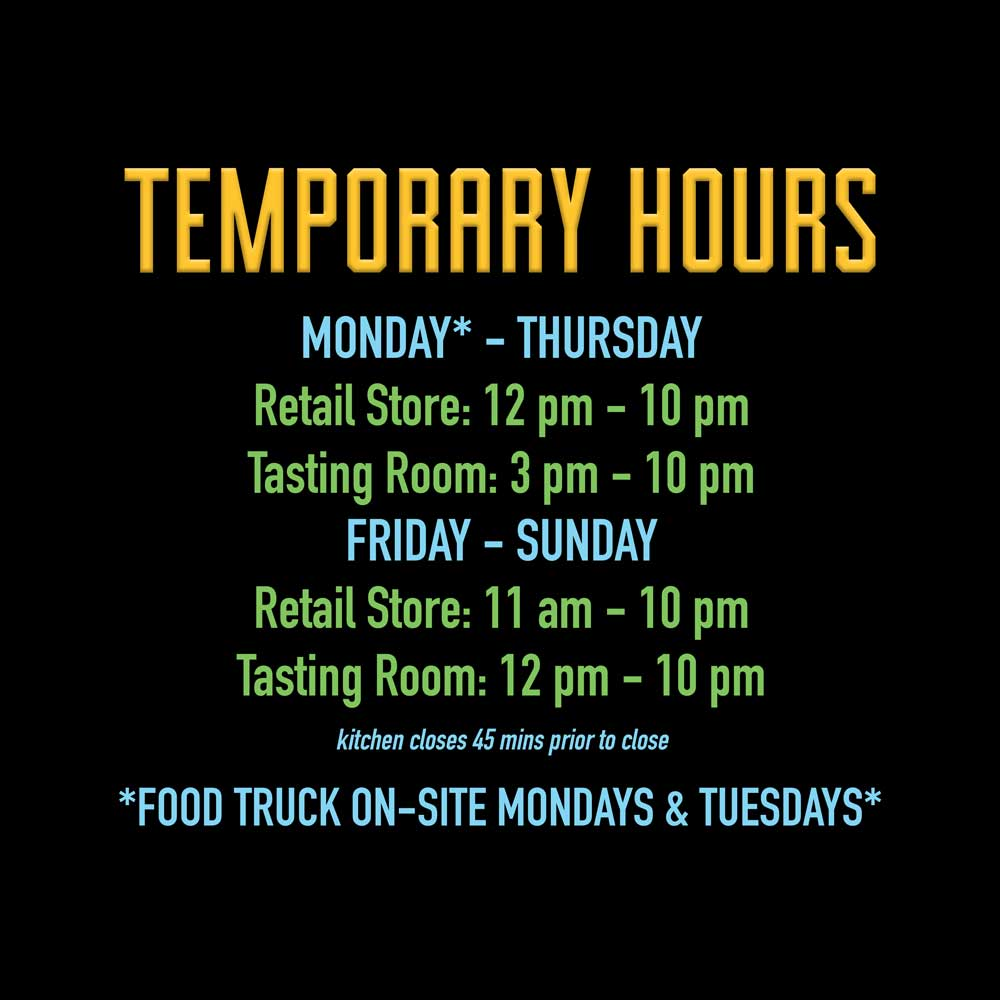 Backcountry Brewing | Temporary Hours for September 2021